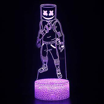 3d Touch Lamp Night Lights Child 7 Colors With Remote Control - Fortnite