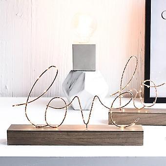 Rum Dekor bordslampa ledde ljus kärlek bokstäver sovrum hem vardagsrum bröllopsdekoration figurer ornament Alla hjärtans dag gåva