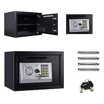 Digital Steel Safe Electronic Safe Box Large 2 Compartments With 2 Keys