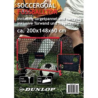 Dunlop fodbold mål Post netto 200x148cm herunder mål panel og bære taske