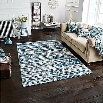 Chloe 608 B blå rektangel mattor moderna mattor