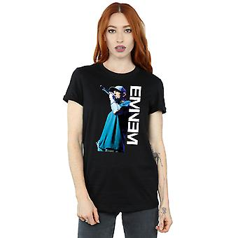 Eminem Women's Mic Pose Boyfriend Fit T-Shirt