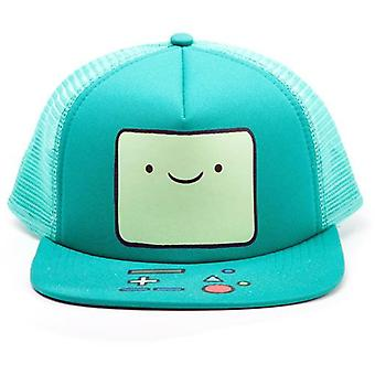 Adventure Time Beemo Video Game Console Face Unisex Trucker Snapback Baseball Cap One Size Turquoise (BA0PNRADV)