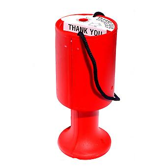 10 Round Charity Money Collection Boxes - Red