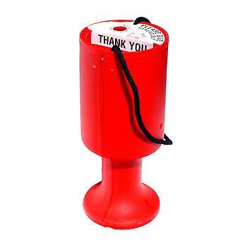 10 kierroksen hyväntekeväisyyteen rahaa keräyslaatikoihin - punainen