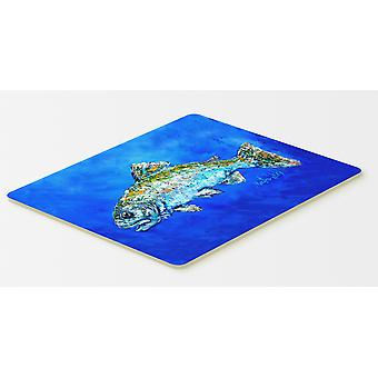 Carolines Treasures  MW1124CMT Fish Headed Downstream Kitchen or Bath Mat 20x30