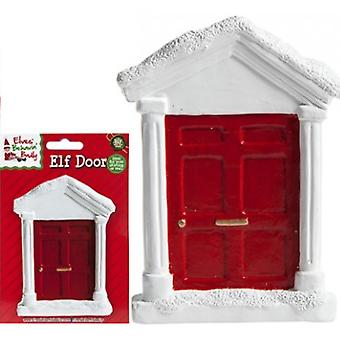 "Elves Behavin' Badly - White Elf Door - 3.5"" X 5"""