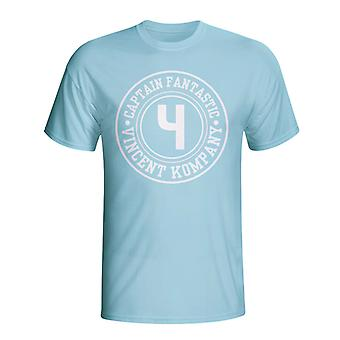 Vincent Kompany Man City Captain Fantastic T-shirt (himmelblau)