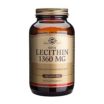 Solgar Soya Lecithin (Unbleached) 1360mg Softgels, 100