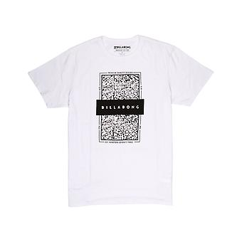 Billabong con locked in short sleeve camiseta en blanco
