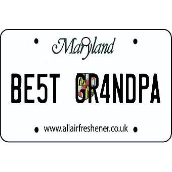 Maryland - meilleur grand-père License plaque voiture assainisseur d'Air