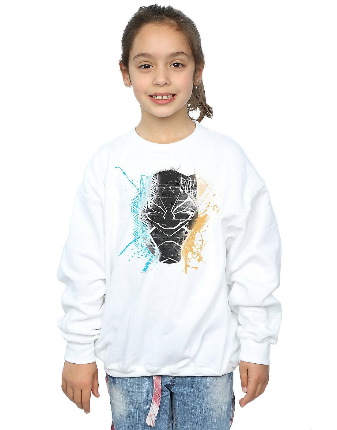 Marvel Girls Black Panther Splash Sweatshirt