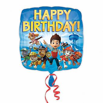 Amscan Paw Patrol Happy Birthday Square Foil Balloon