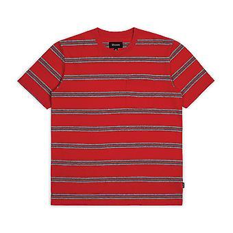 Empuñadura de Brixton lavar camiseta bolsillo negro rojo