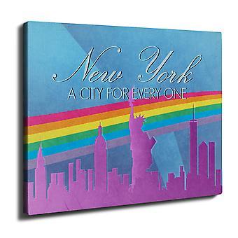 Pride Love Urban New York Wall Art Canvas 40cm x 30cm | Wellcoda