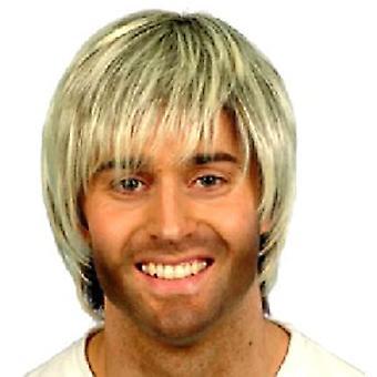 Boy Band peluca (cantidad 1) - marrón