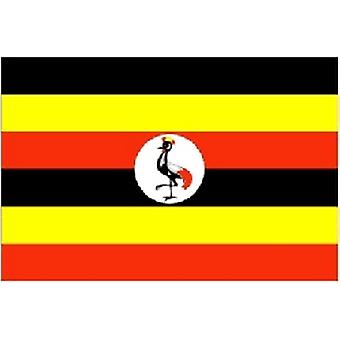 Oeganda/Oegandese vlag 5 ft x 3 ft (100% Polyester) oogjes voor verkeerd-om