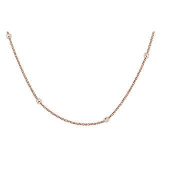 Złota róża 42 + 3 Cm łańcuch Orphelia srebro 925 Kulki ZK-7201/RG