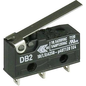 ZF Microswitch DB2C-A1LC 250 V AC 10 A 1 x On/(On) momentary 1 pc(s)