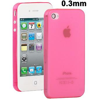 Protective Case Hard Case Case for Phone iPhone 4 / 4s Pink Transparent