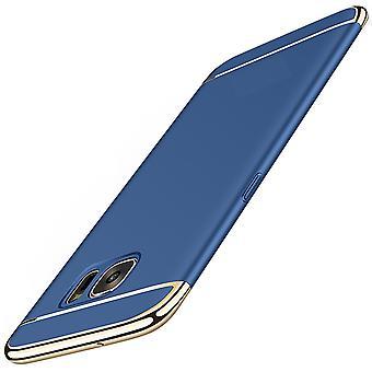 Caso di copertura telefono cellulare per il caso di Samsung Galaxy A8 2018 paraurti 3 in 1 copertina cromo blu