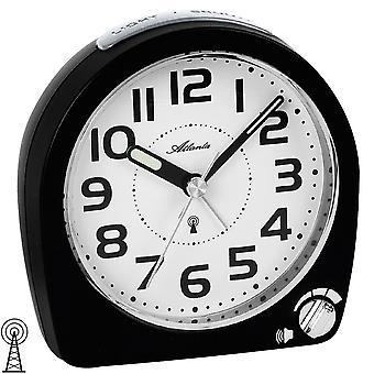 Atlanta 1838/7 alarm clock Radiovækkeur med snooze lys sort