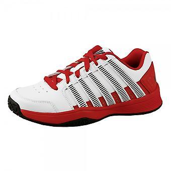 K-švajčiarsky súd vplyv LTR tenisové topánky vnútorné (koberec) deti biela/červená