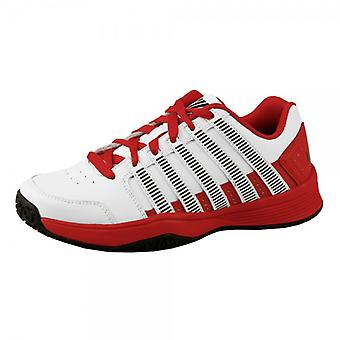 K-Swiss Court impact LTR indoor (carpet) kids white tennis shoe