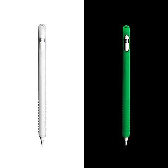 InventCase Silicone Grip Case Cover for Apple Pencil 1st Gen  - Glow in the Dark Version - Green
