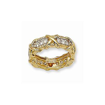 14k Gold Plated Unity Ring Jewelry Gifts for Women - Ring Size: 5 to 7