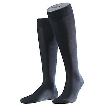 Falke Tiago sokken knie hoge - Dark Navy