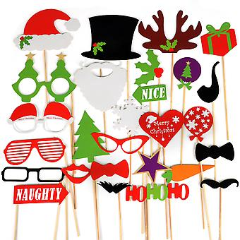 TRIXES Noël amusant Photo parti Prop assortis masques
