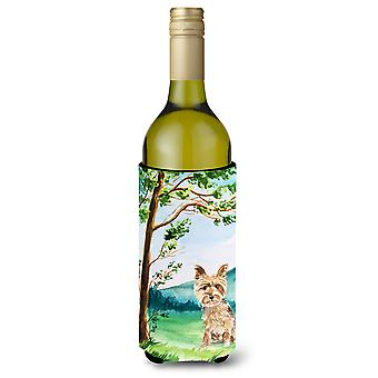 Under the Tree Yorkie Yorkshire Terrier Wine Bottle Beverage Insulator Hugger