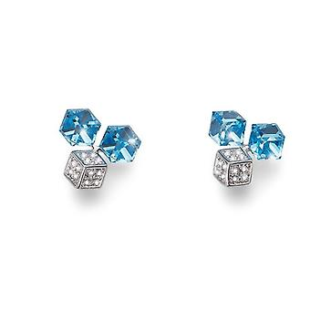 Oliver Weber Earring Quad Rhodium Crystal AB