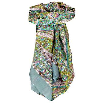 Mulberry Silk Traditional Square Scarf Hindon Quartz by Pashmina & Silk