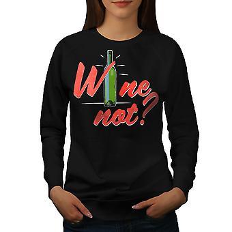 Viinijuhla Funy Women BlackSweatshirt | Wellcoda, mitä sinä olet?
