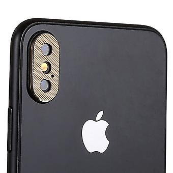 Anillo de protección de protección Cam cámara para Apple iPhone XS Max 6.5 pulgadas 2Pcs oro alta calidad