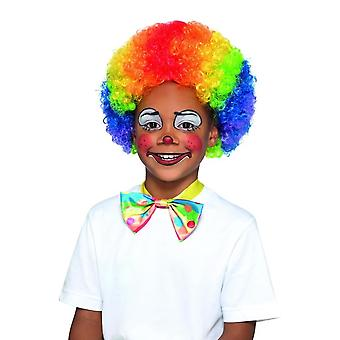 Clown Wig Multi-Coloured Kids, Girls Fancy Dress, One Size
