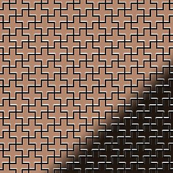 Mozaic metalic aliaj de cupru Swiss-Cross-CM