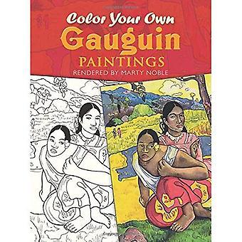 Kleur je eigen Gauguin schilderijen (kleurboeken)
