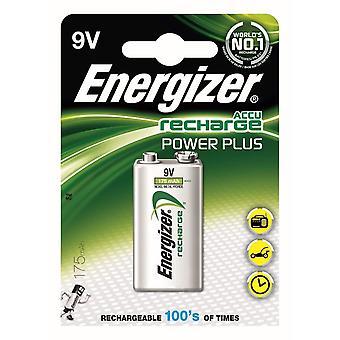 Poder de recarga energizador mais baterias de 9V recarregável, 1 pacote