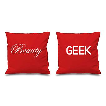 Beauty and Geek Red Cushion Covers 16