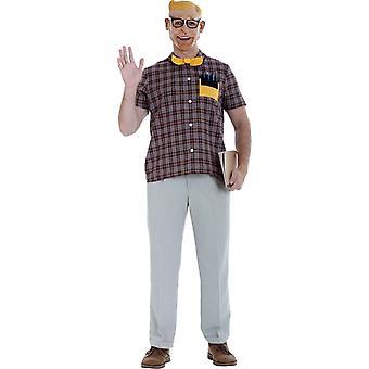Stary Nerd dorosłych kostium