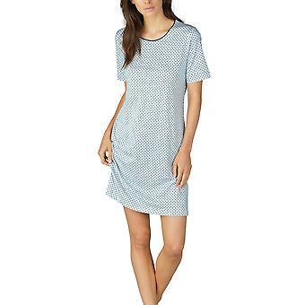 Mey 11953-408 Women's Sonja Night Blue Spotted Cotton Nightdress
