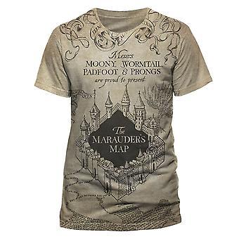 Men's Harry Potter Marauders Map AOP Sublimated T-Shirt