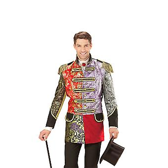 Manteau de parade jacquard patchwork
