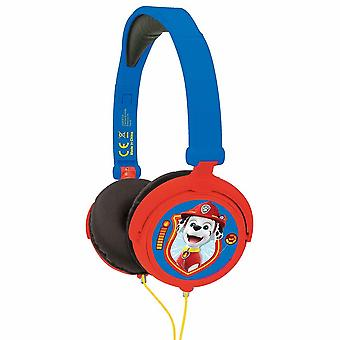 Lexibook Paw Patrol Chase Marshall Stereo Headphone Safe Vol Foldable - Blue/Red