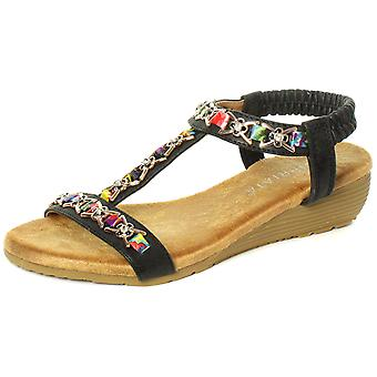 Cipriata Lia Jewelled Womens Sling Back Sandals  AND COLOURS