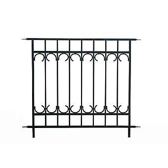 Panacea Park Lane Fence Section Schwarz stilvoll