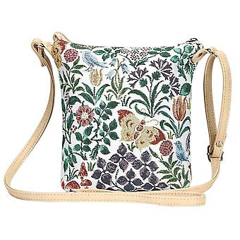 Voysey - spring flowers shoulder sling bag by signare tapestry / sling-spfl